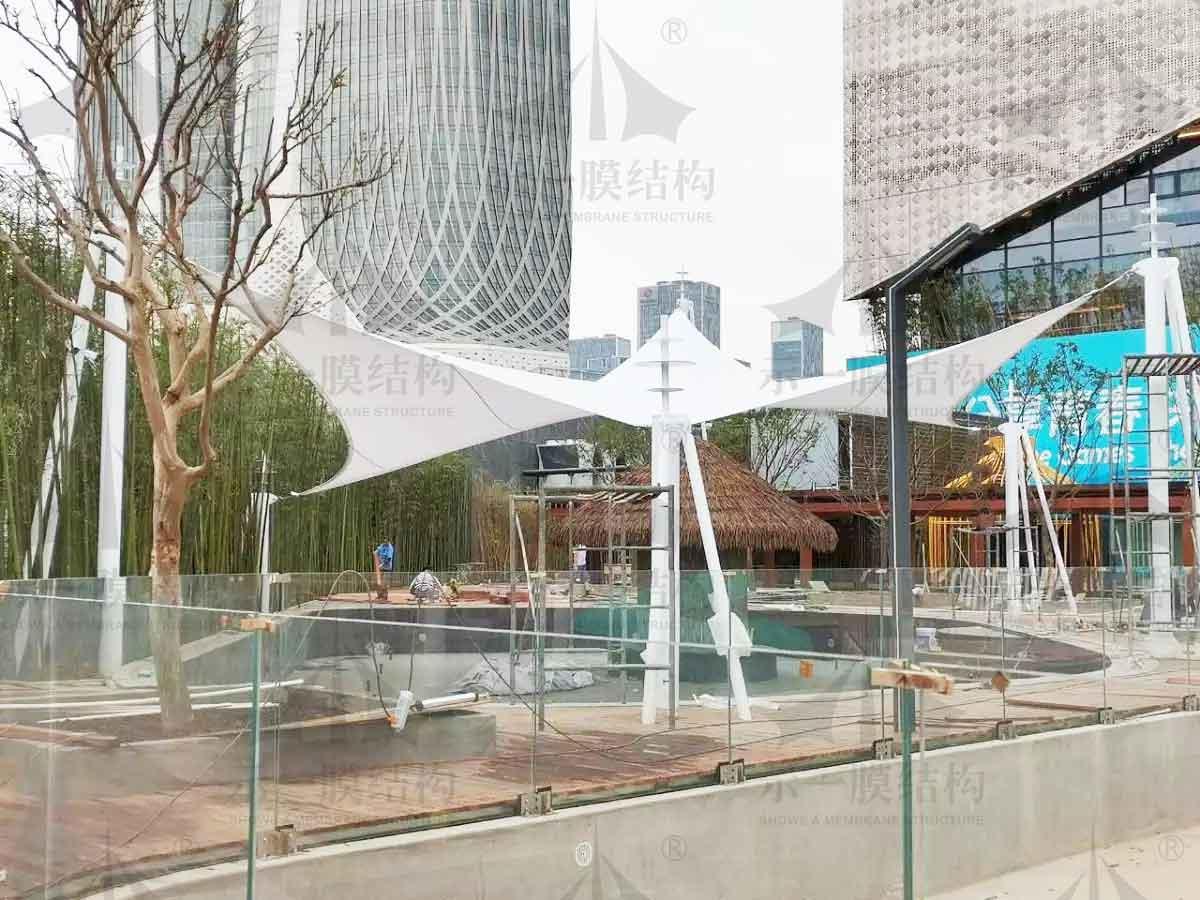 Jiangsu Nanjing Swimming Pool Sunshade and Tensegrity Project